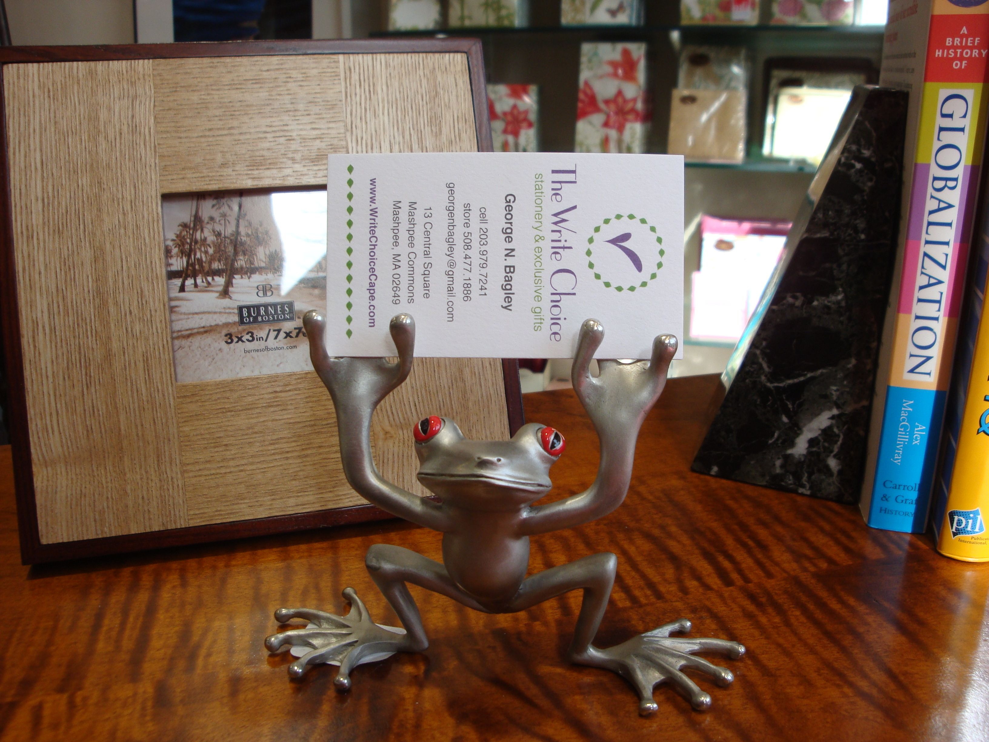 Solid Pewter Frog Business Card / Pen Holder. | The Write Choice for ...