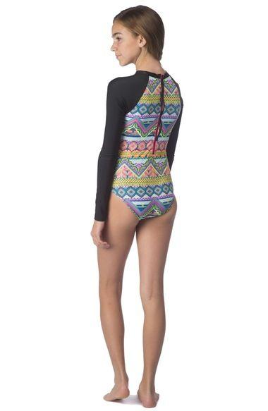 b2e0f06121d94 Main Image - Hobie One-Piece Rashguard Swimsuit (Big Girls ...