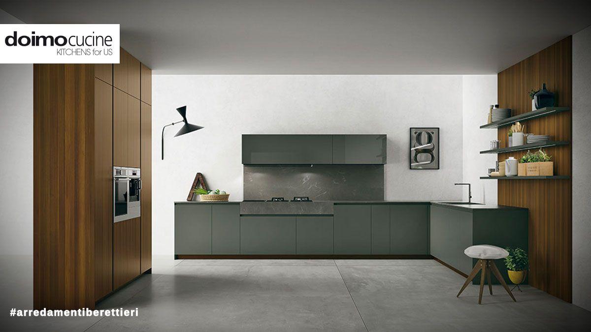 Doimo cucine, Modello Materia - Una cucina in legno moderna ...