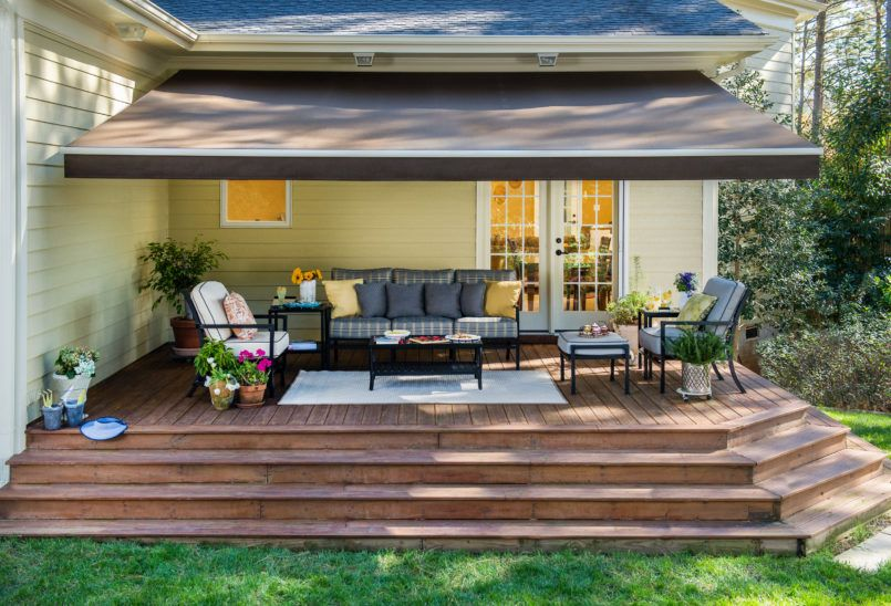 Exterior Sun Setter Retractable Awning With How Much Is A Retractable Awning  Also Sunsetter Manual Retractable