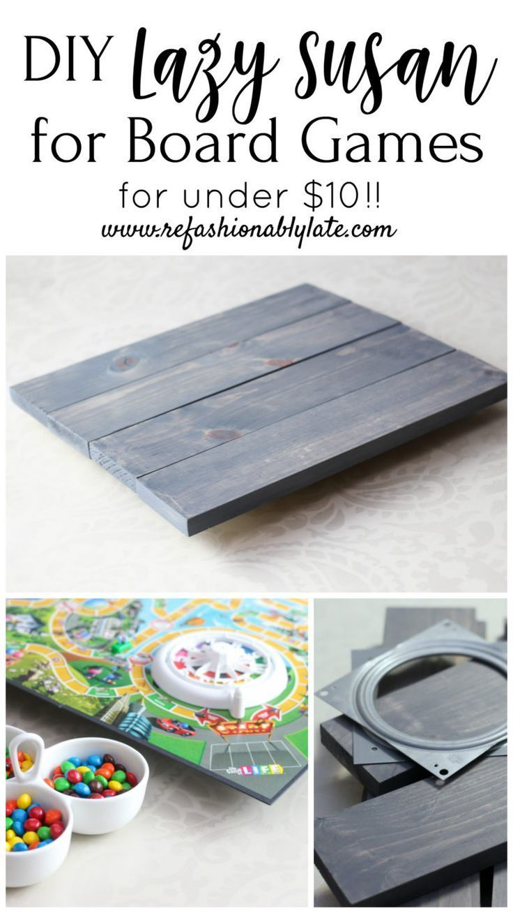 Cheap and Easy DIY Lazy Susan for Game Boards - REFASHIONABLY LATE