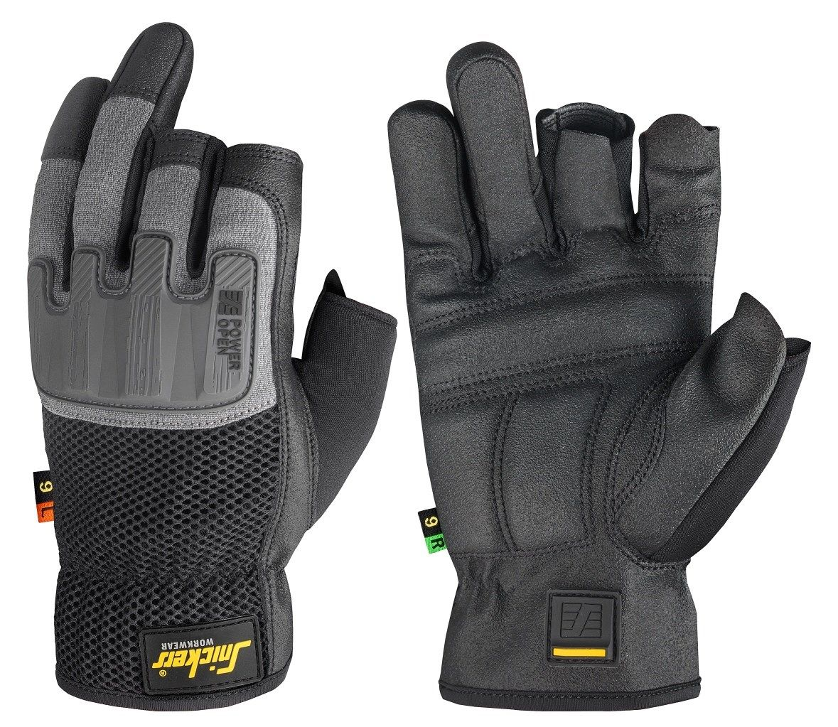 Fingerless impact gloves - Power Open Gloves That Keep You Free And Protected Reinforced Fingerless Work Gloves Combining Reliable