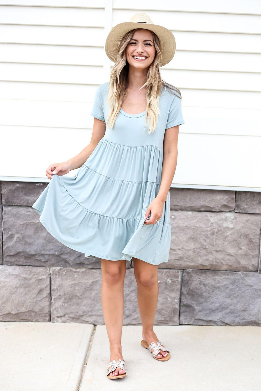 Tiered T Shirt Dress Spring Dresses Casual Trendy Dresses Cool Summer Outfits [ 1350 x 900 Pixel ]