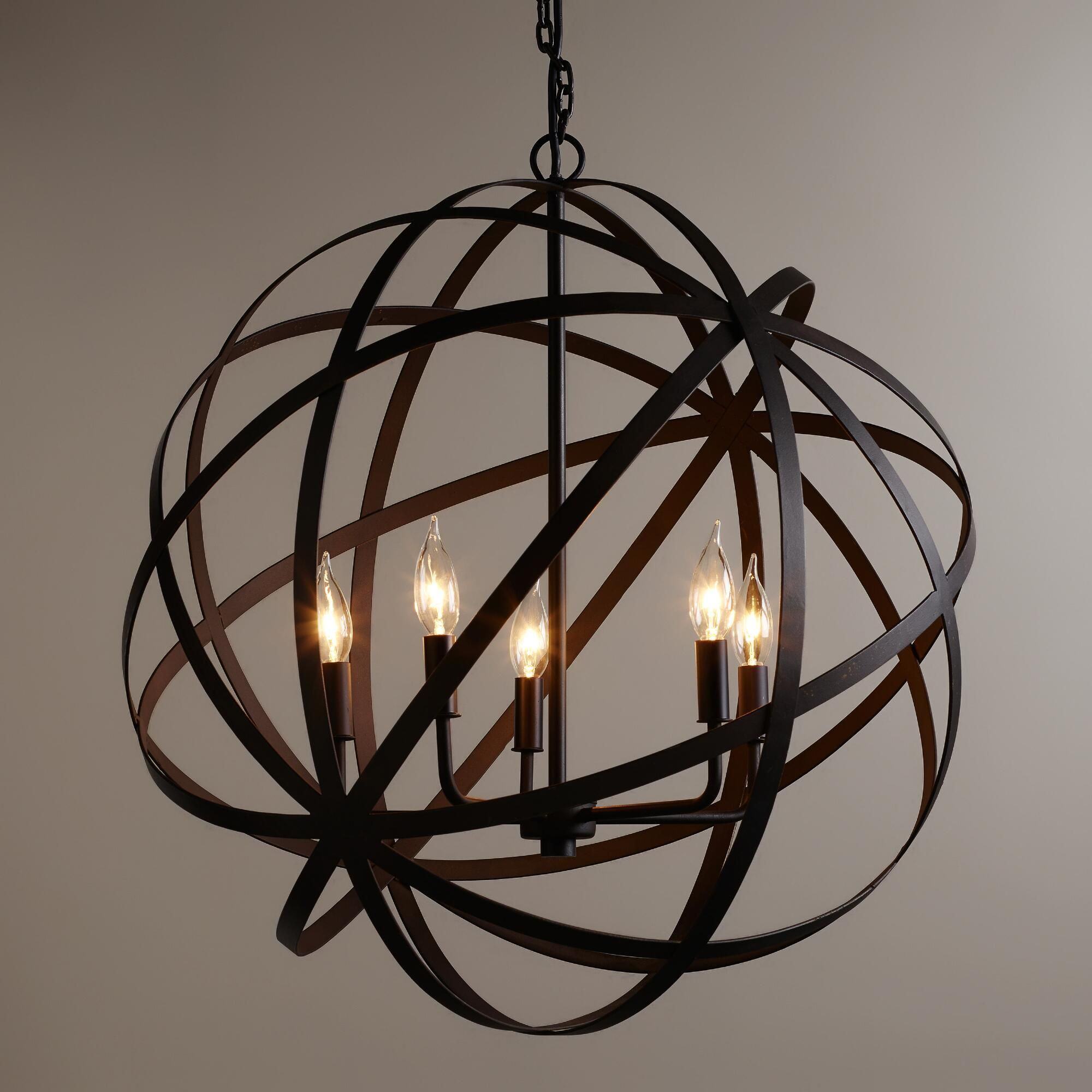 Large Metal Orb Chandelier Orb Chandelier Geometric Lighting
