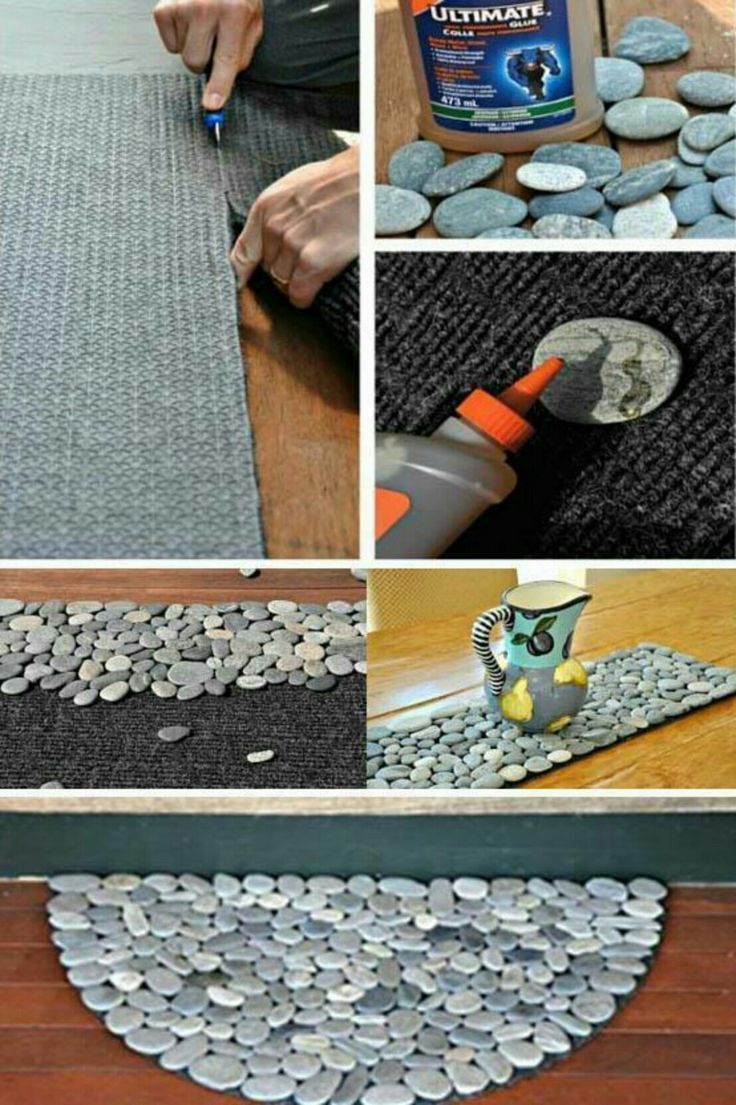 A Stone Mat Made With Smooth Stones Glue And Sy Rug Base