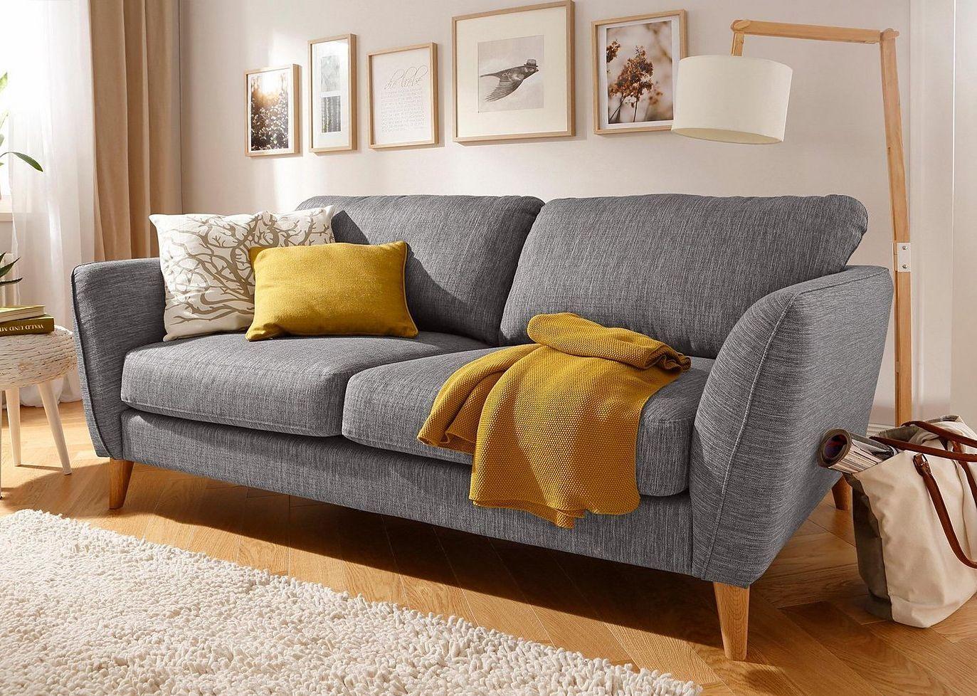 Home Affaire 3 Sitzer Marseille In Skandinavischem Stil In 3 Bezugsqualitaten Mit Holz Beinen Sofas Fur Kleine Raume 3 Sitzer Sofa Kleine Couch