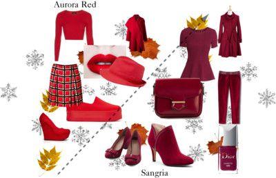 Colores de Otoño Invierno / Autum Winter colors:  Aurora Red y Sangria