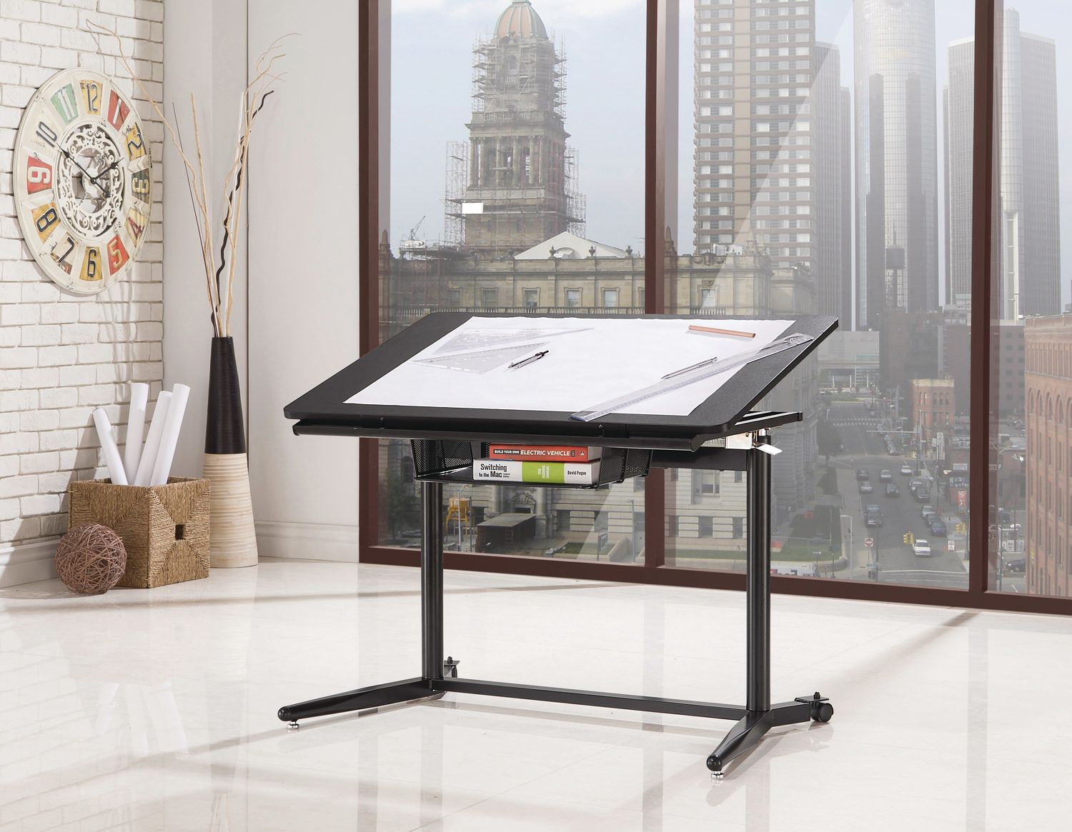 Sit to Stand Drafting desk (With images) Coaster