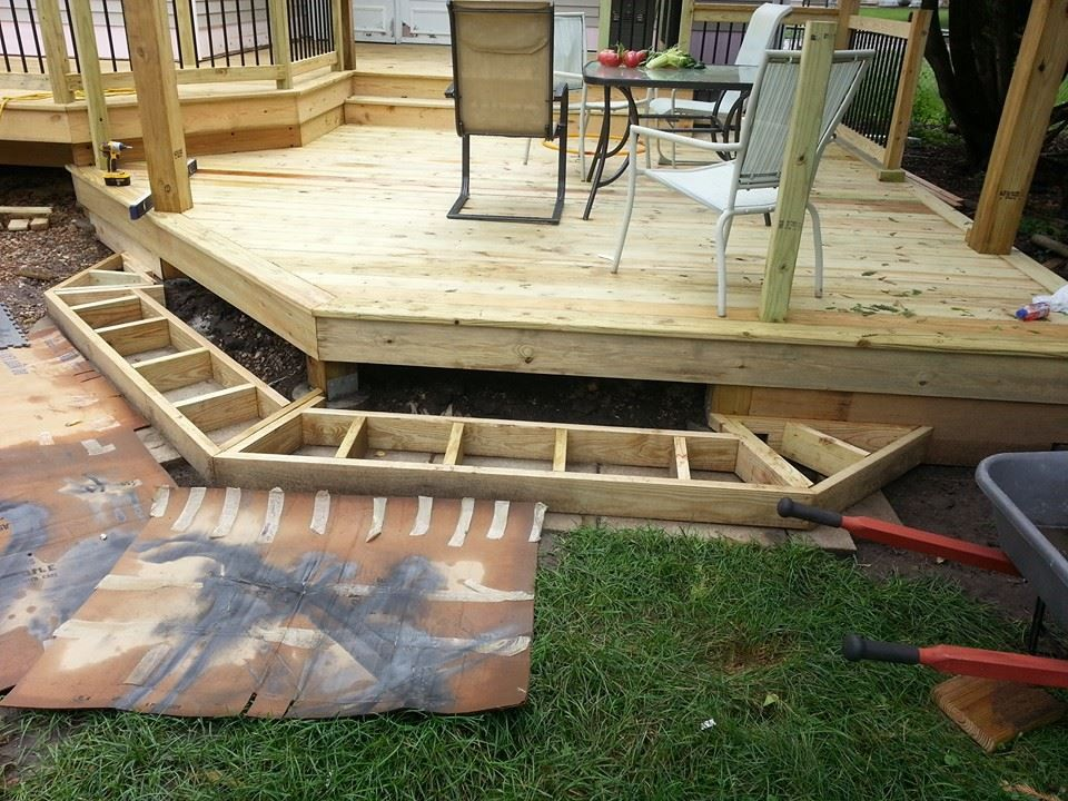 Best Building Cascading Stairs With Box Framing Deck Designs 400 x 300