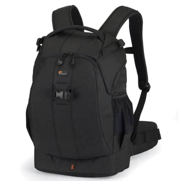 LOWEPRO BLACK AND ORANGE CAMERA BAG CASE ALL WEATHER WITH STRAP