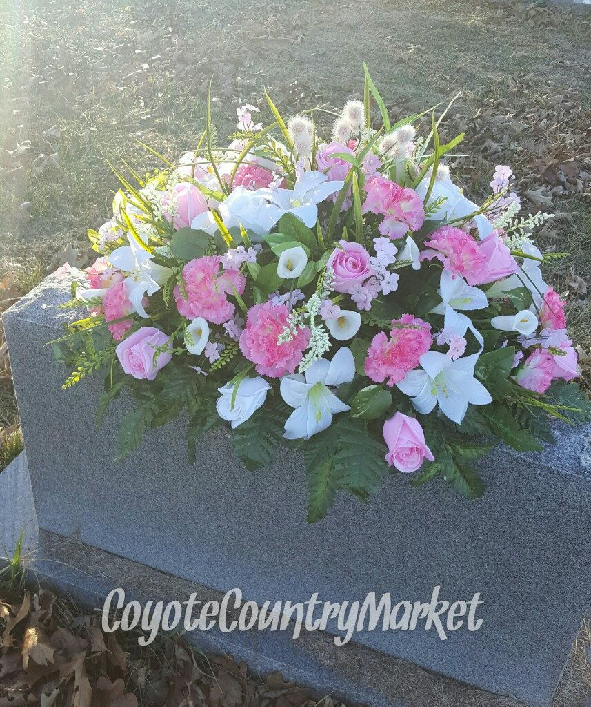 Mum Sister Large Artificial Silk Flower Wreath Pink Lilac Rose Memorial Graves