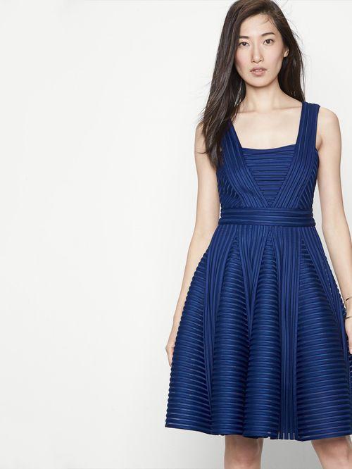 Robe maje bleue marine
