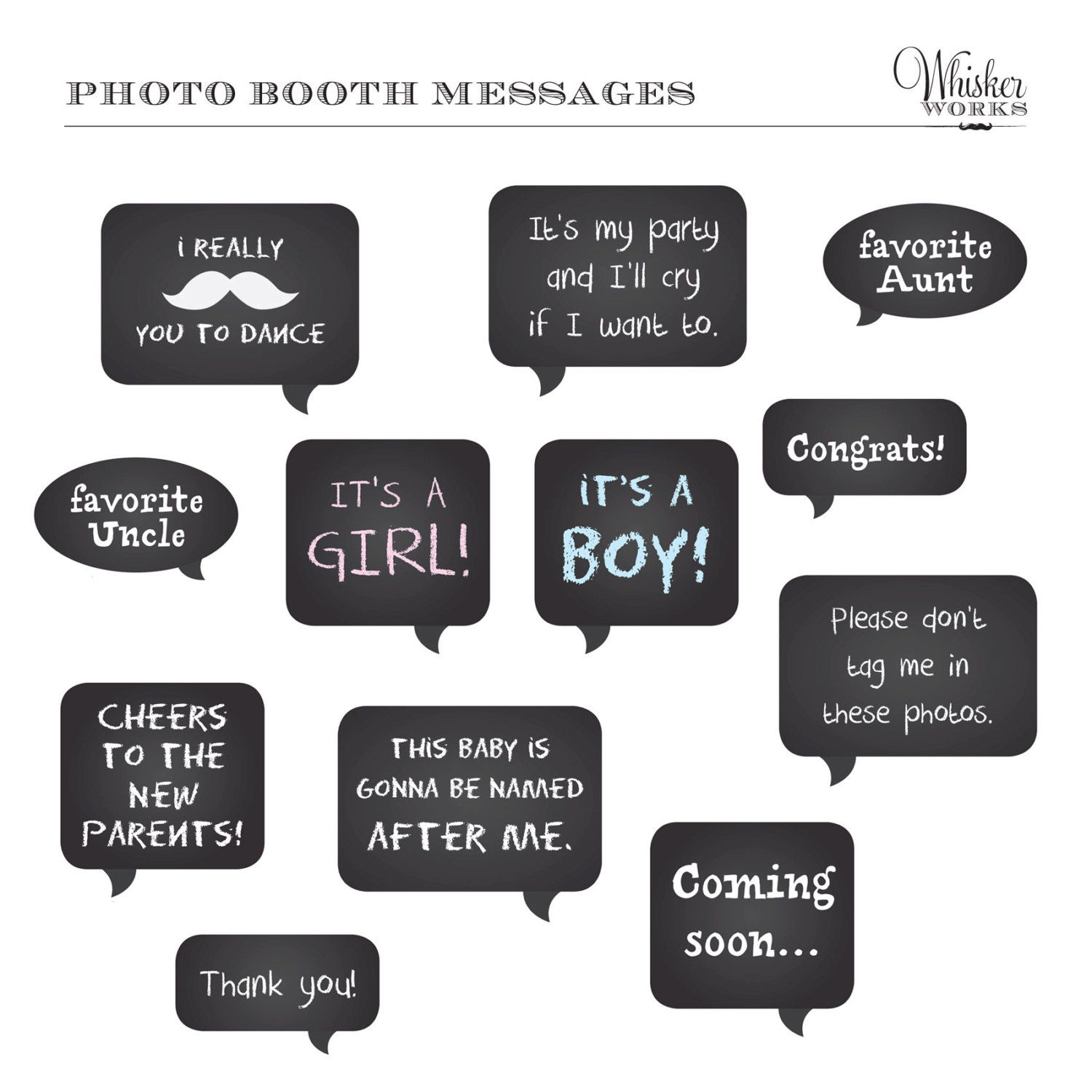 Baby Shower Photo Booth Diy Photo Booth Printables
