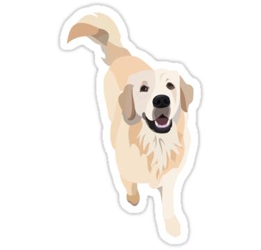 Golden Retriever Doggo Sticker By Gumidomino Dog Stickers Hydroflask Stickers Tumblr Stickers