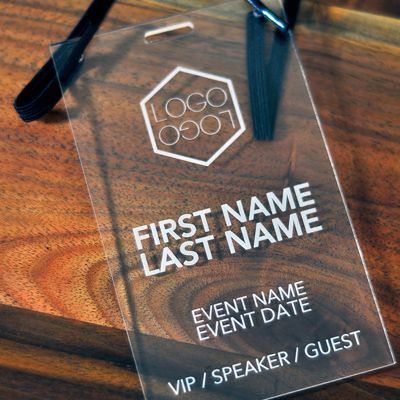 Conference, Expo and Event Badges Archives - Laser Cutting Lab - invitation card format for conference
