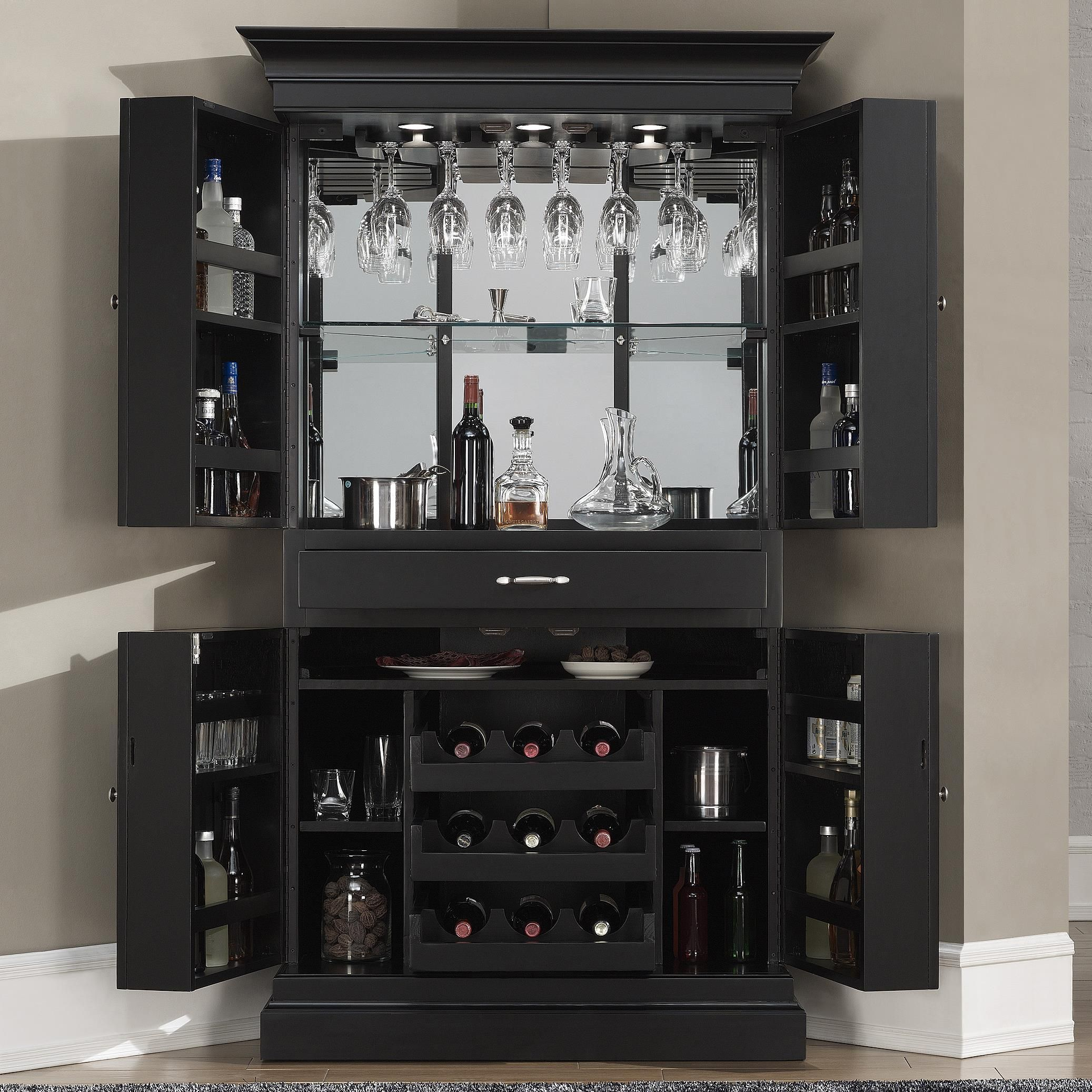 Francesca Corner Bar Armoire By American Heritage Billiards