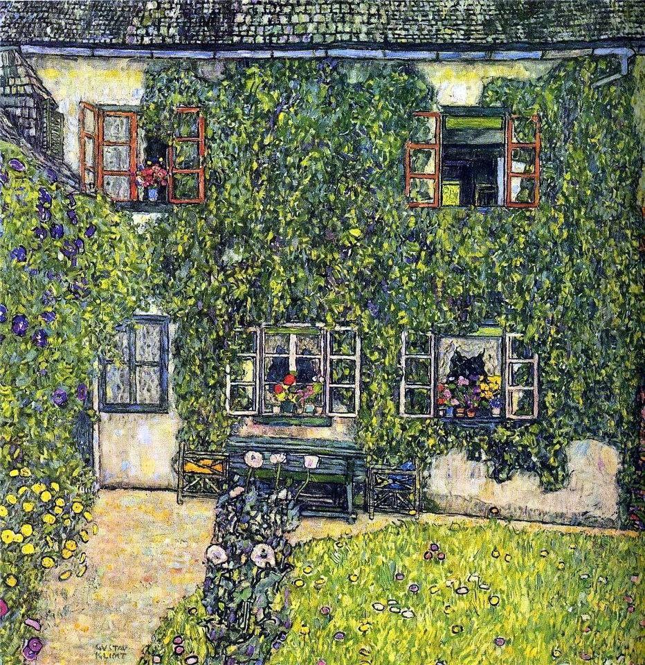 Gustav Klimt, La casa del guardaboschi, 1912 #arte