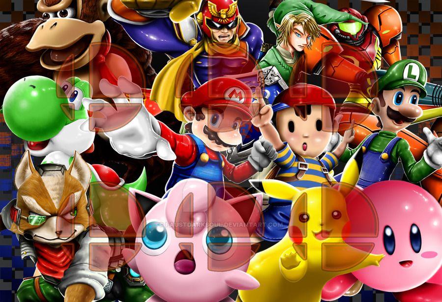 Super Smash Bros 64 roster by FaustDarkSoul deviantart com