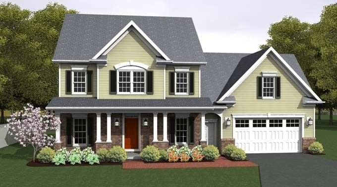 Country House Plan with 2056 Square Feet and 3 Bedrooms from Dream Home Source | House Plan Code DHSW076665