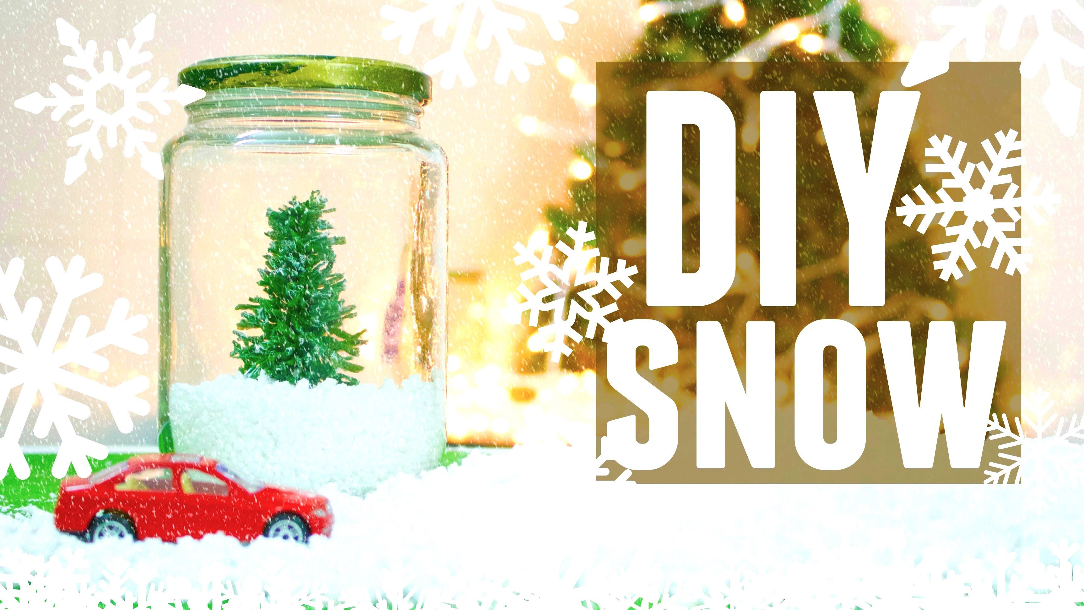 How To Make Fake Snow For Christmas Decorations - Diy