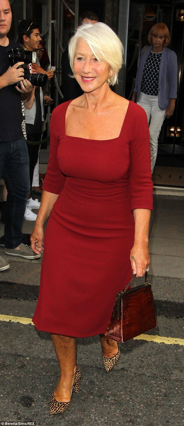 She can do no wrong! Dame Helen Mirren cut a stylish figure when she attended the GQ Men Of The Year Awards in London on Tuesday evening