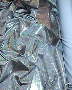 sold by yard Red psychedelic hologram design 2 way stretch spandex