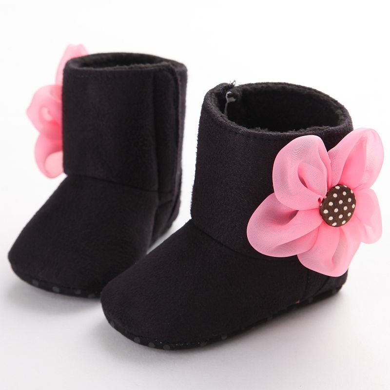 479fefc2a2d7 Click to Buy    Newborn Baby Girls Boots Lovely Dimensional Flower Suede  Soft Crib Shoes Toddler Infant Warm First Walker Baby Girl Shoes Winter   Affiliate