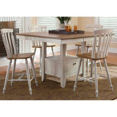 Liberty Furniture Canton 5-piece Counter-Height Gathering Table Set - 841-CD  sc 1 st  Pinterest & Liberty Furniture Canton 5-piece Counter-Height Gathering Table Set ...