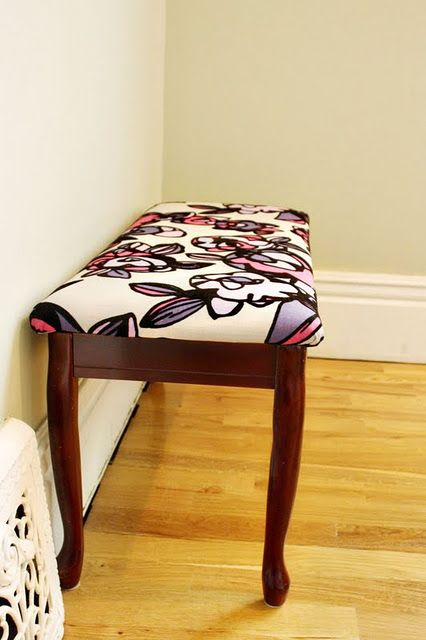 love the reupholstery fabric! I love this print! Anybody know the name of it?