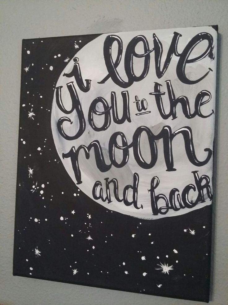 Starting To Paint Again Love Painting Canvas Moon I You The Diy Cute Paintings Simple