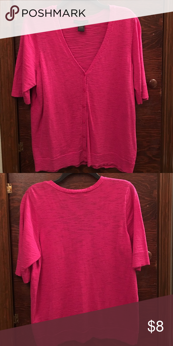Plus Size Preswick & Moore Sweater | Sweater cardigan, Hot pink ...