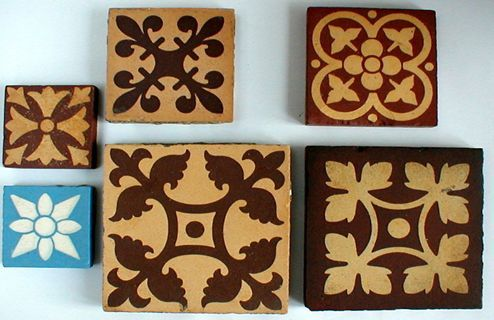 Victorian And Edwardian Geometric And Encaustic Tiled Floors Tiles