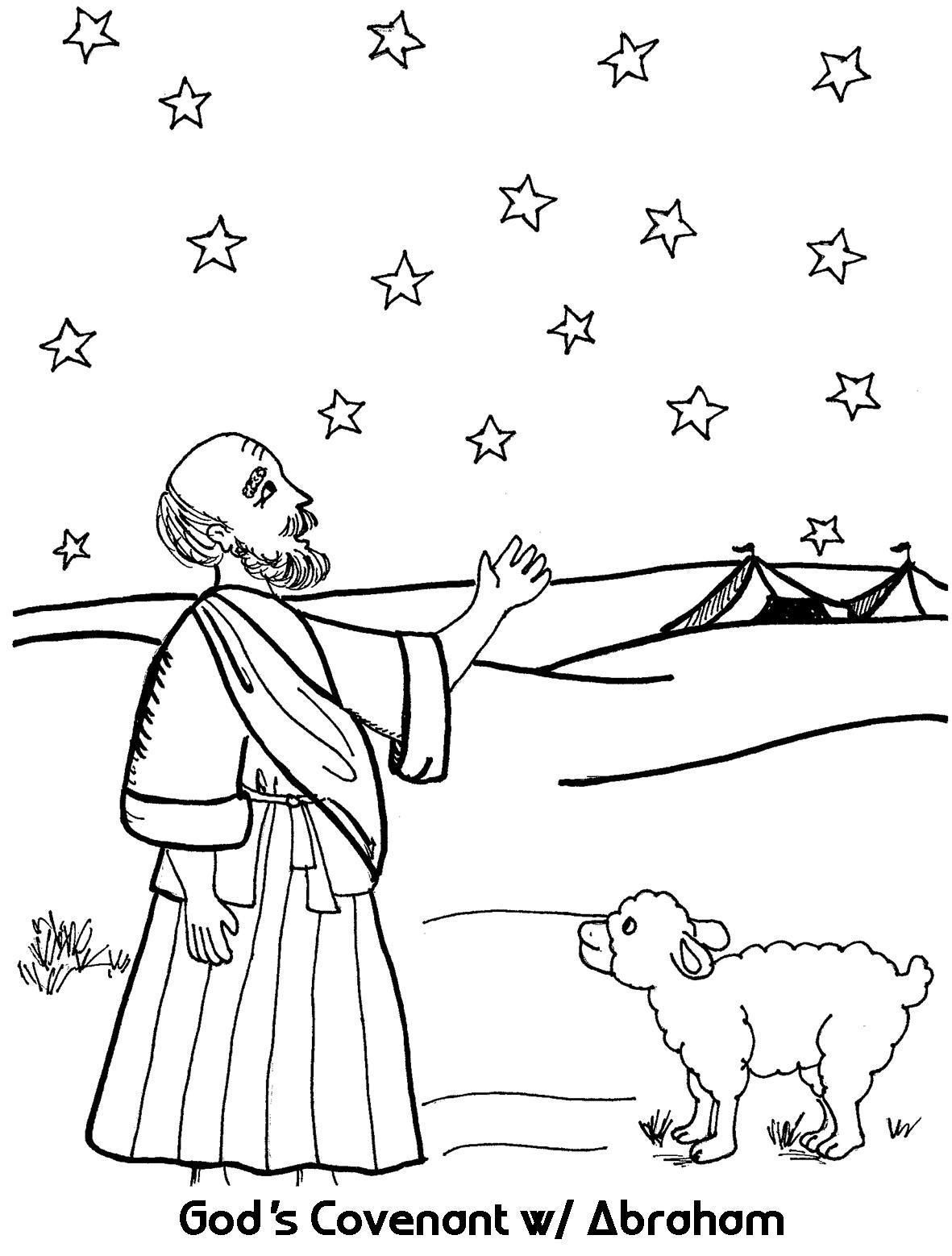 Abraham And God S Promise Coloring Page Sunday School Coloring