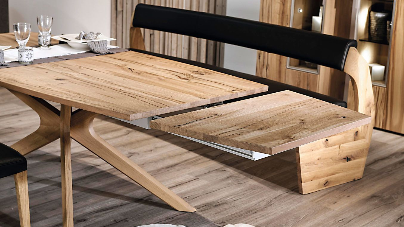 Gut VOGLAUER Esstisch Valpin Geöltem Eichenholzgestell. Die Tischplatte Besteht  Aus Gebürstetem, Geöltem Eiche Altholz Echtholzfurnier Und Hat Abgerundete  ...