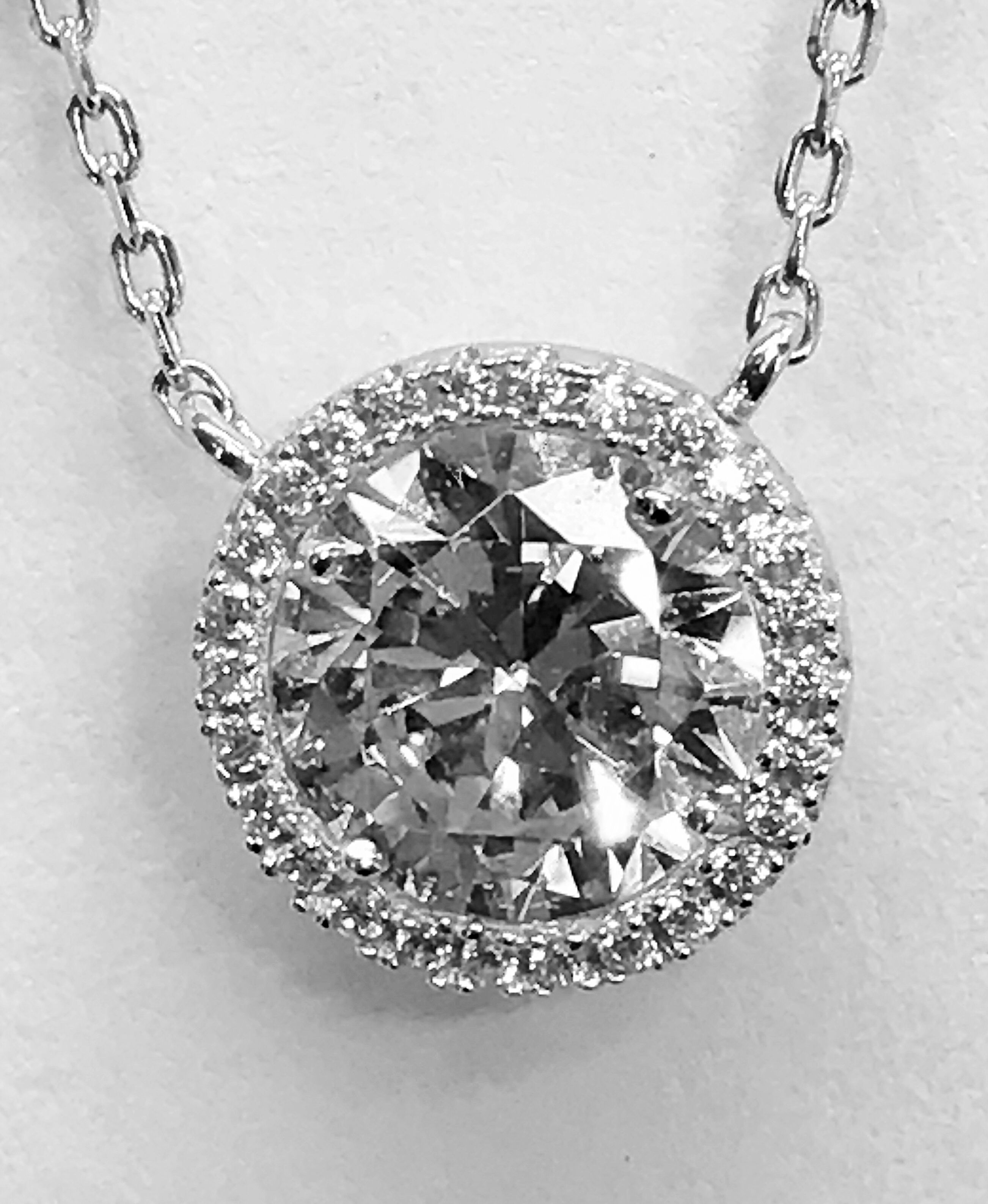 Single diamond necklace tonycollection pinterest diamond
