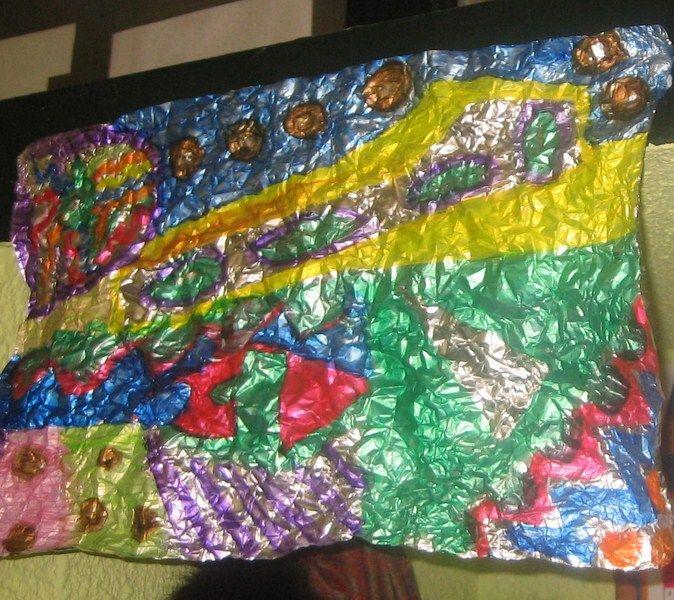 pintura sobre papel de aluminio 2º de primaria | colegio Ciudad del ...