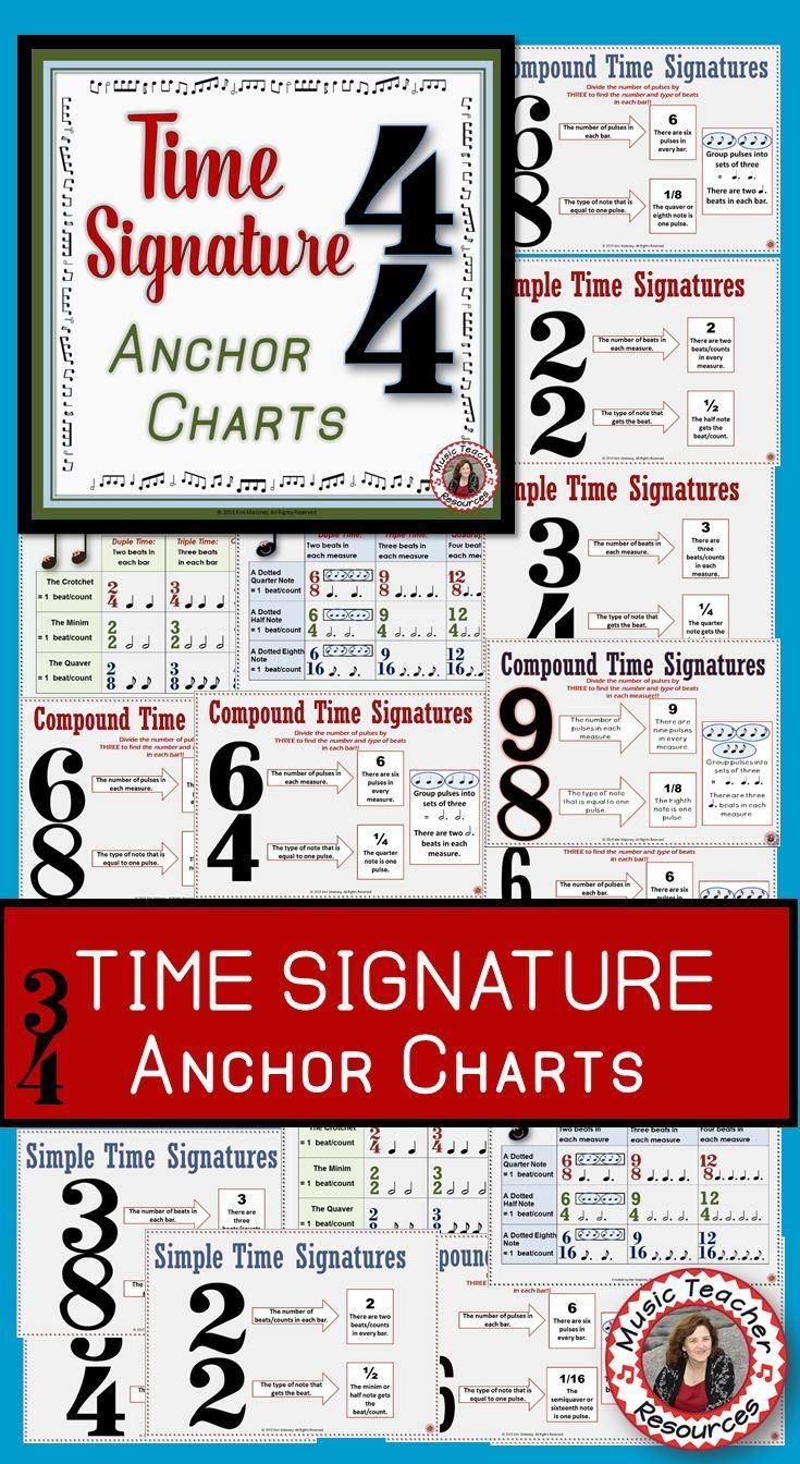 music lessons  |  music theory  |**There are ELEVEN Time Signature Charts - both Simple and Compound Time!  ♫  CLICK through to preview or save for later!  ♫   #musiceducation