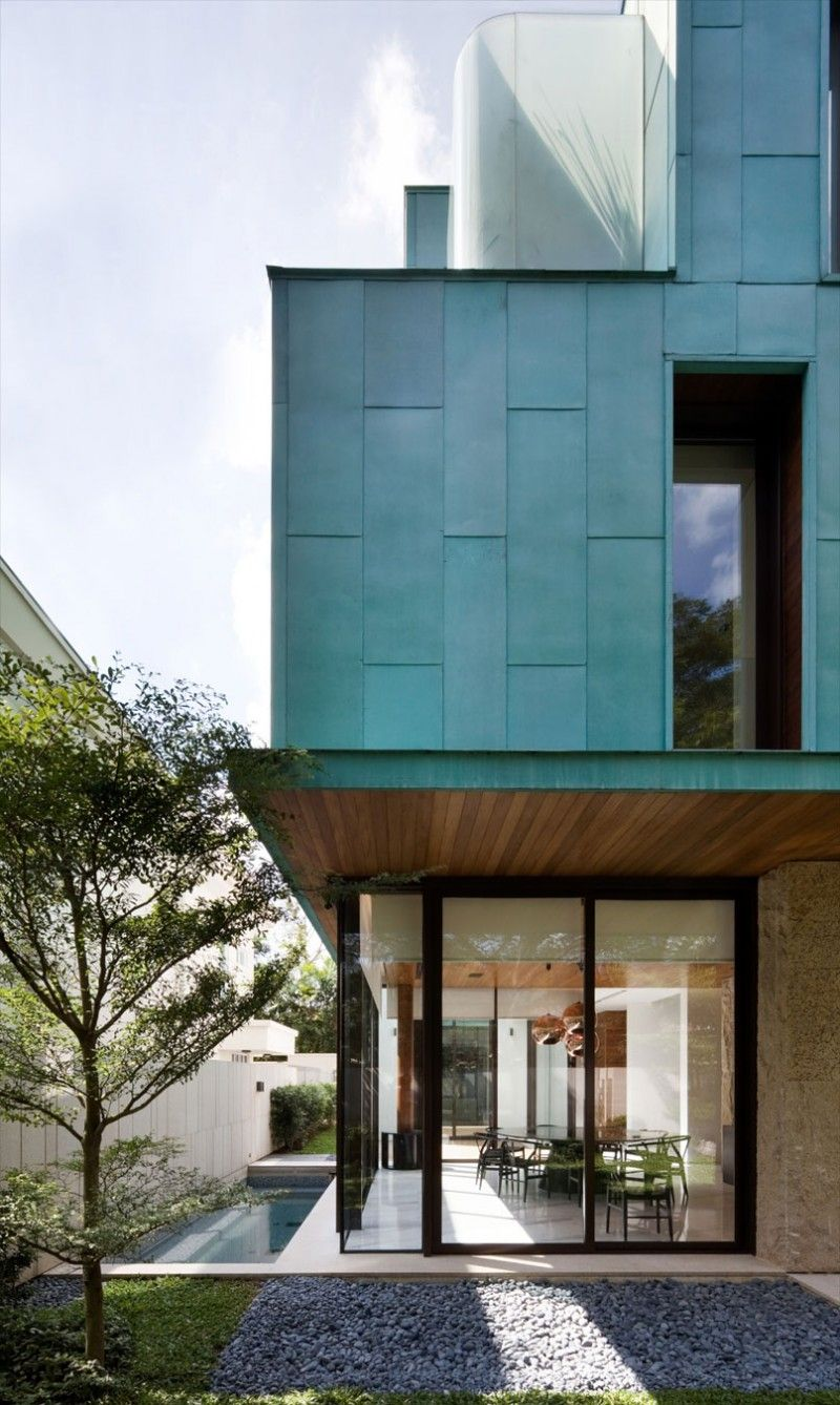 The Green House By K2ld Architects Facade House Architecture Modern Exterior
