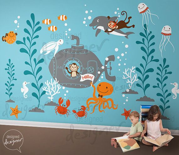 Wall Decals Wall Sticker kids wall decal   by designedDESIGNER, $220.00 Option #2