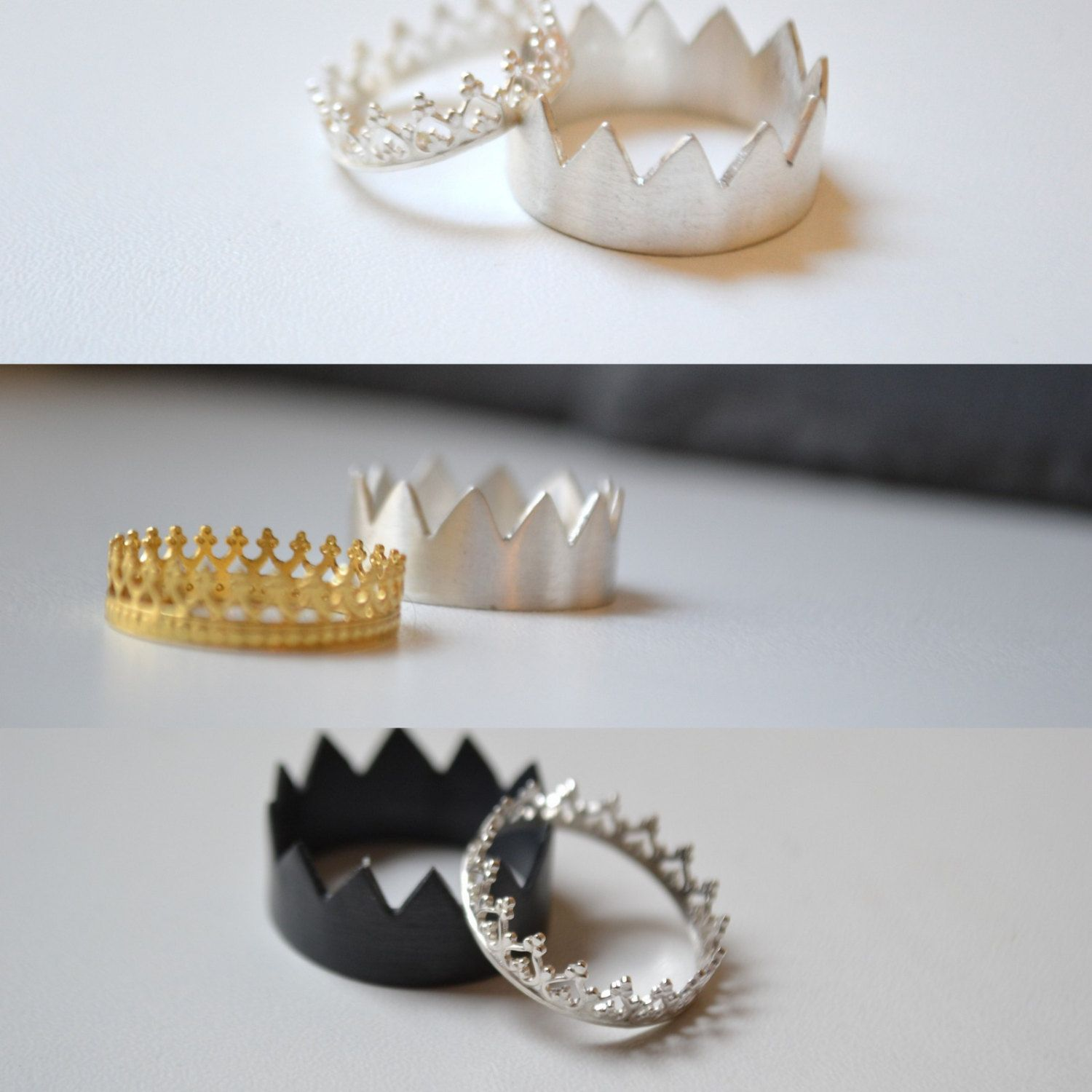 Jewelry maker in Paris hand makes these crown rings For men and