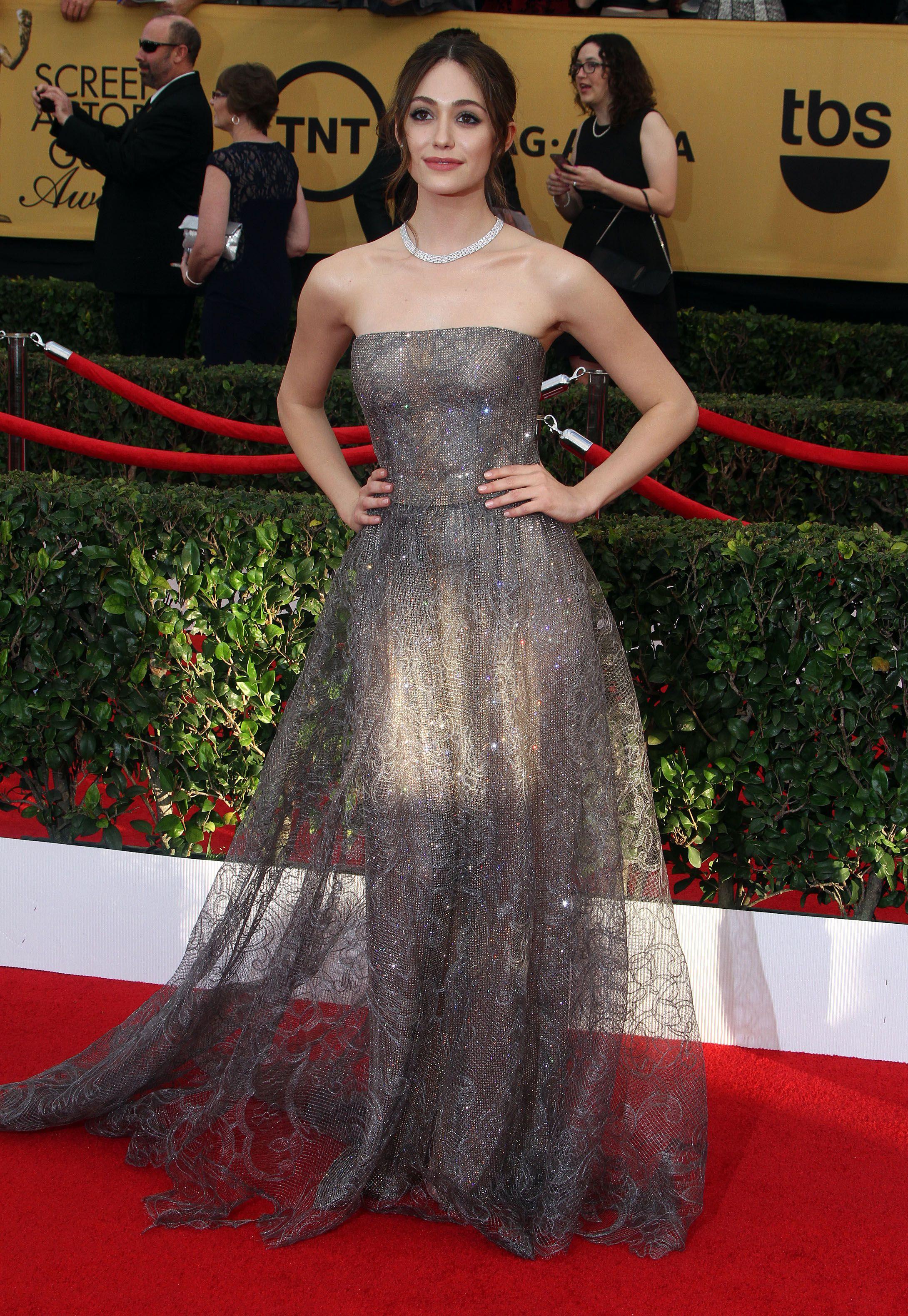 Emmy Rossum In Armani Prive Red Carpet Fashion Nice Dresses Star Fashion