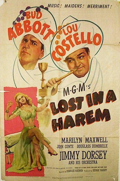 Abbott & Costello Vintage Movie Posters Abbott & Costello Lost in a Harem Movie Poster. Our Vintage Abbott & Costello Collection: www.cvtreasures.com $575