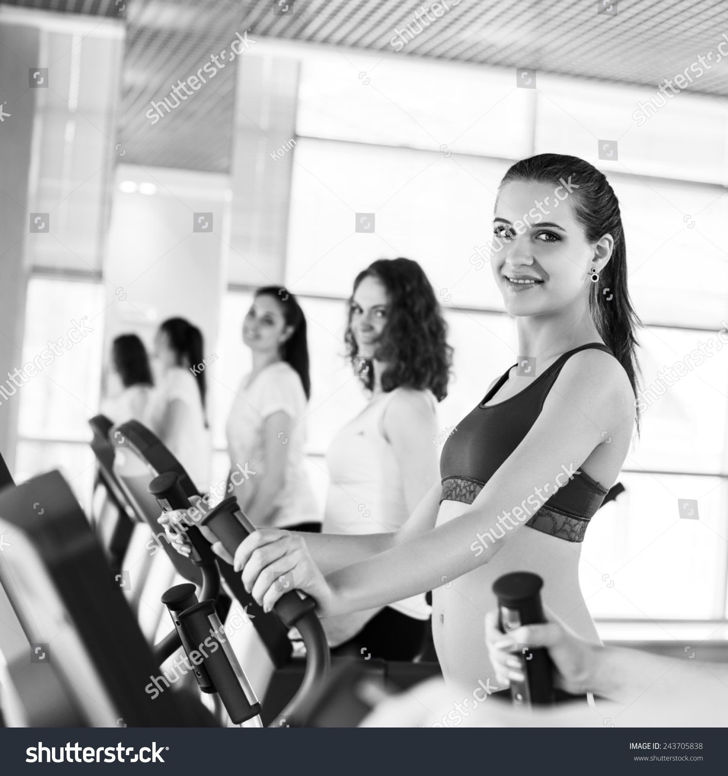 Attractive young people engaged in fitness #Ad , #Paid, #young#Attractive#people#fitness