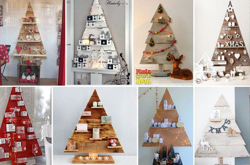 Decorazioni In Legno Per Albero Di Natale : Alberi di natale in legno con mensole christmas