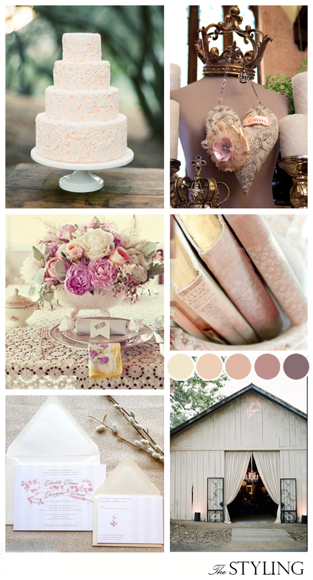 Blush & Taupe ~ Wedding Inspiration ~ The Styling
