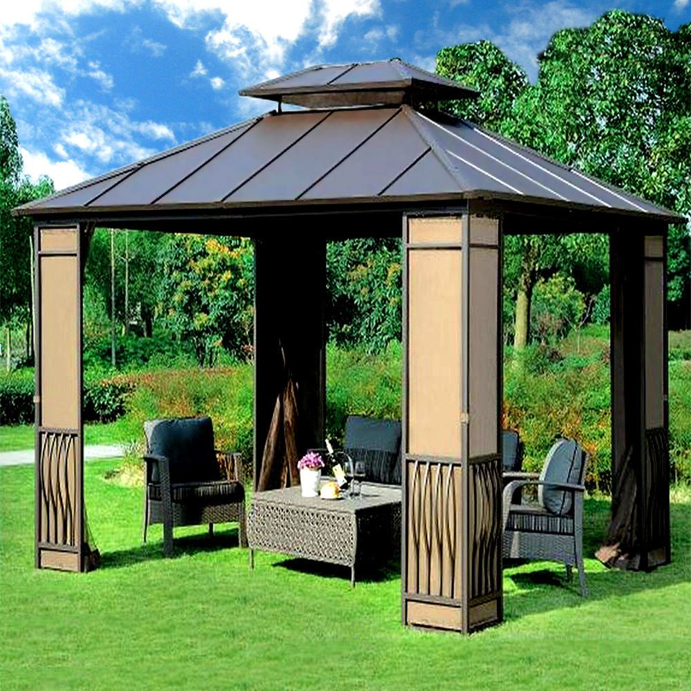 10 X 12 Heavy Duty Galvanized Steel Hardtop Wyndham Patio Gazebo Hardtop Gazebo Patio Gazebo Gazebo