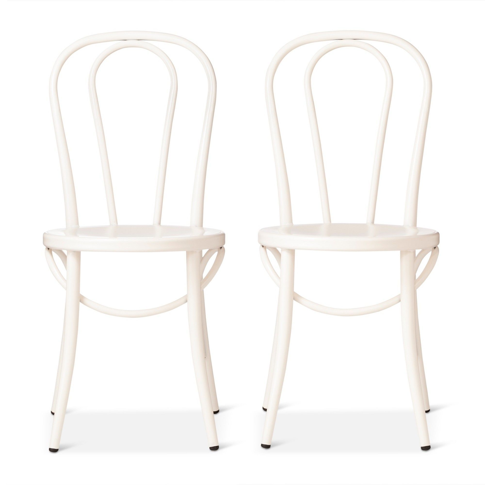 White Bistro Chairs Emery Metal Bistro Chair Off White Set Of 2 Threshold