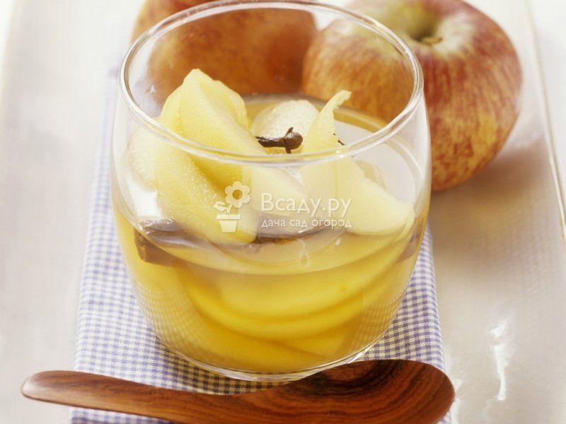 Яблочный компот с лимоном на зиму Яблочный компот с ...