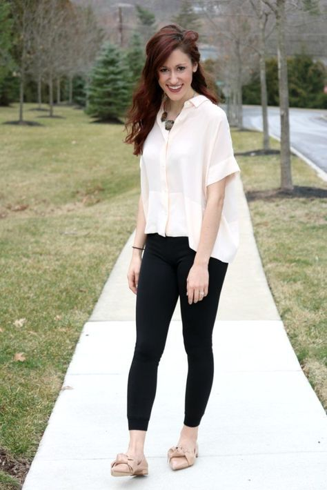 df7c000009591b What to Wear with Leggings: How to Style Black Leggings 7 Ways, for wear  all week long! on Coming Up Roses