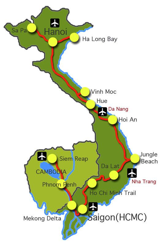 Vietnam Travel Guide Route Planner GOING TO VIETNAM Pinterest